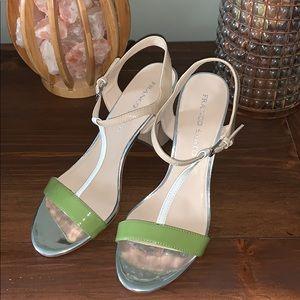 Franco Sarto chunky heel strapped sandal high heel
